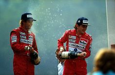 Gerhard Berger (AUT) (Honda Marlboro McLaren), McLaren MP4/5B - Honda RA109E, 3.5 V10 (finished 3rd), Ayrton Senna (BRA) (Honda Marlboro McLaren), McLaren MP4/5B - Honda RA109E, 3.5 V10 (finished 1st), Belgian Grand Prix, Circuit de Spa-Francorchamps, 1990. --- ©McLaren Racing Ltd.