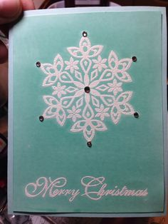 Festive Flurry with glossy paper