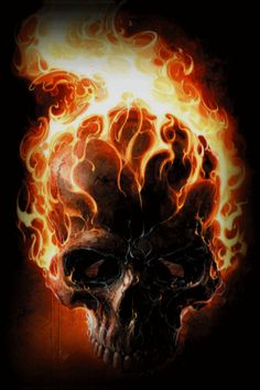 Animated Flaming Skull | Animated GIFs » Misc » Flaming Skull