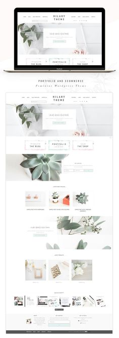 This wordpress theme based on Genesis Framework is packed with incredibly productive and functional theme features for your feminine website. Portfolio eCommerce Genesis theme Hi by Lovely Confetti on (affiliate) Web Design Trends, Website Layout, Blog Layout, Website Themes, Website Design Inspiration, Mise En Page Web, Webdesign Inspiration, Portfolio Website Design, Wordpress Website Design