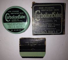 Antique Vintage Coles Carbolized Salve Ointment Tin Jar Medical Pharmacy JW Cole  | eBay
