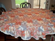 Tablecloth Vintage TableclothOval Quilted by SuzyQsVintageShop, $16.75