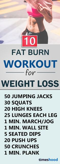10 Fat Burn Workout. Do these evening workout daily to lose weight fast. Best workout for weight loss.