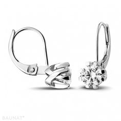 9e68690a6853 Diamond design earrings in white gold 18K from our Jafo collection