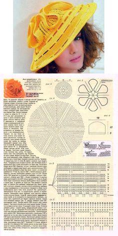 Шляпа от Людмилы Орешкиной. Схема вязания // ludmila oldenburger