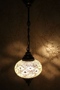 Multicolour Turkish Moroccan Style Mosaic Hanging Lamp Light Hand Made DY30