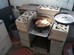 Dutch Oven Cooking Area.