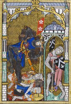 Illuminations from the Peterborough Psalter, 1300-1325 England