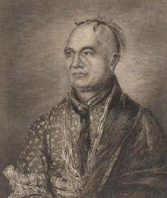 THAYENDANEGEA (Joseph Brandt)  (Mohawk 1742-1807) Brant apoyó a la liga iroquesa como representante ante los colonos estadounidenses. El líder, de padre mohawk, luchó con todos los medios legales para evitar la desgracia a su pueblo.