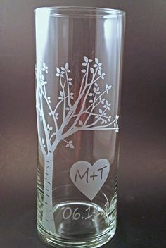 Wedding Unity Candle Vase  Rustic Blooming  by winstonglassworks