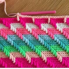 Crocheting a blanket #crochet #crafts