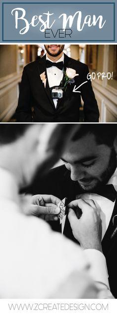 WEDDING MUST HAVE #5: Lightning Bolt Best Man Pin | www.ZCreateDesign.com