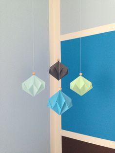 Origamidiamonds in my son's room