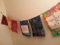 7 panel Birth Banner  Birth Flag by DharmaFlags on Etsy