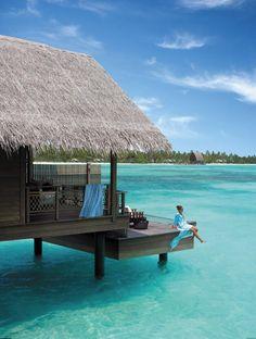 best overwater bungalow resorts maldives villingili deck