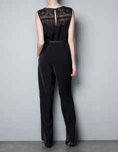 LACE JUMPSUIT - Dresses - Woman - ZARA United States