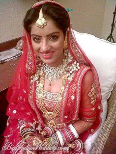 Actress Deepika Singh (of Diya Aur Baati Hum fame on #StarPlus) at her wedding