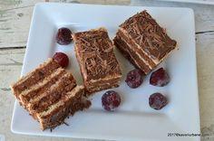 Prajitura cu visine si ciocolata Ana reteta savori urbane Romanian Desserts, Food Cakes, Something Sweet, Tiramisu, Cookie Recipes, Waffles, French Toast, Cheesecake, Sweets
