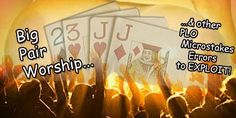 BIG PAIR WORSHIP & other microstakes #PLO #poker mistakes you can exploit : http://www.betvictor.com/poker-club/en/forum-posts?topic=5540 …