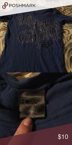 Fox rider t-shirt Blue fox rider t-shirt worn once Fox Tops Tees - Short Sleeve