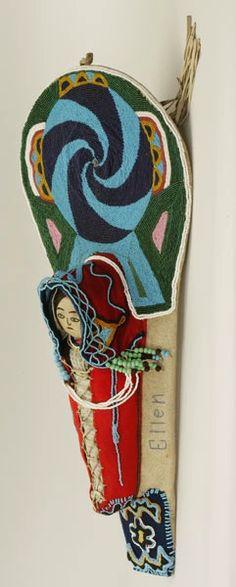 Nez Perce (Idaho), Toy Cradleboard and Dolly, beads/woo/leather/wood, c. 1900.