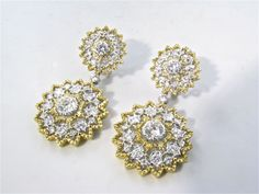 BUCCELLATI Stunning Yellow and White Gold and Diamond Earrings image 2