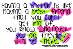Sister Love Clip Art | LOVE MY SISTER! Sisters are special. Sisters are friends. They laugh ...