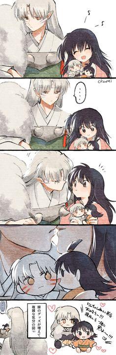 Inuyasha Koga, Inuyasha Funny, Rin And Sesshomaru, Kagome Higurashi, Manga Art, Anime Art, Romantic Drawing, Animes Yandere, Anime Comics