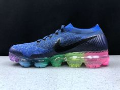 differently d1e21 9fdd6 Nike Air VaporMax 2018 Betrue Flyknit Rainbow Deep Royal Blue Women Men  Discount Nikes, Nike