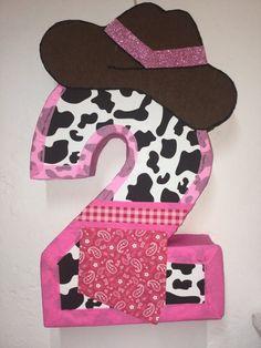 fabrica de piñatas entamboradas economicas Cow Birthday Parties, Rodeo Birthday, Birthday Pinata, Wild One Birthday Party, Girl 2nd Birthday, Mickey Mouse Birthday, Birthday Party Decorations, Pink Birthday, Girl Horse Party