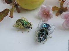 Картинки по запросу муха из бисера мастер класс