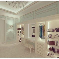 Explore the best of luxury closet design in a selection curated by Boca do Lobo to inspire interior designers looking to finish their projects. Discover unique walk-in closet setups by the best furniture makers out there Decor, Beautiful Closets, House Design, Room Design, House, Home, Walk In Closet, House Interior, Closet Designs