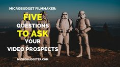 Ask questions. Questions get video production prospects talking. #Videography