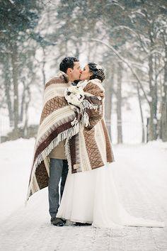 45 вдохновляющих фото зимней свадьбы