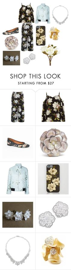 """""""MAGNOLIA FOR A DAY"""" by ekomkaleka on Polyvore featuring Warehouse, Givenchy, Judith Leiber, Moncler Gamme Rouge, Adriana Orsini and Pier 1 Imports"""