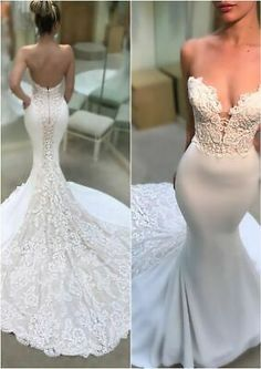 Sleek and sexy! Check out the MARNIE gown and more from Enzoani's 2018 wedding d… Sleek and sexy! Check out the MARNIE gown and more from Enzoani's 2018 wedding dress collection Sexy Wedding Dresses, Perfect Wedding Dress, Wedding Attire, Bridal Dresses, Backless Wedding, Wedding Veil, Sleek Wedding Dress, Wedding Ceremony, Lace Wedding