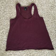 Flowy tank Purple / wine colored flowy tank. Worn a few times, still in great condition! Says size XS but can fit a small. Tops Tank Tops