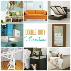 Short on space: double duty furniture.
