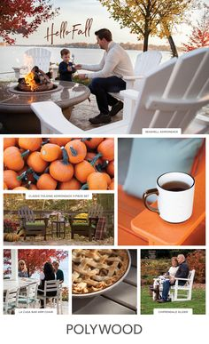 Autumn is the perfect time for relaxing in your outdoor space. Whether you're cozying up in some blankets drinking hot cocoa or sitting around a fire and carving some pumpkins, creating an outdoor space for the season is easy with POLYWOOD. Harvest Time, Fall Harvest, Polywood Outdoor Furniture, Hello Autumn, Happy Autumn, Holiday Snacks, Autumn Scenery, Fall Pictures, Winter Holidays