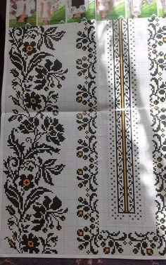 Cross Stitch Art, Cross Stitch Borders, Cross Stitch Embroidery, Hand Embroidery, Cross Stitch Patterns, Embroidery Designs, Crochet Table Runner, Filet Crochet, Loom Beading