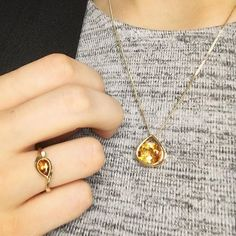 It's a 'pear-shaped citrine' kinda day. 🌅🌻 Did you know citrine is associated with joyfulness and vitality? A perfect way to start the weekend. Gold Jewelry, Gold Necklace, Pendant Necklace, Ed Stone, Pear Shaped, Jewels, Photo And Video, Color, Instagram