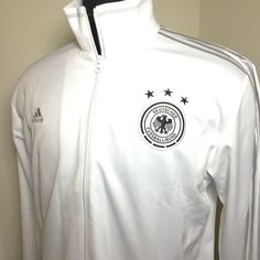 $60 Adidas Germany World Cup Soccer Team Warm Up Track Jacket White/Silver SZ XL NWT #adidas #Germany