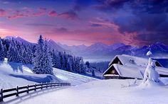 Paisajes con Nieve II (Postales Invernales) | Banco de Imagenes