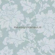 Grote bloem zacht mint behang 305193, Elegance 3 van AS Creation