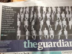 The @guardian headline shifted down allowing space for an artwork by Nele Azevedo #good #design #decisionsdecisions