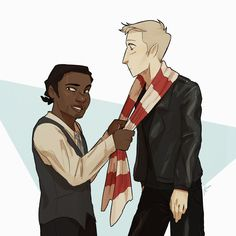 """"""" """"I told Hearth he needed a splash of colour. The black clothes. The platinum-blond hair. The red-striped scarf makes a bold statement, don't you think? Magnus Chase, Rick Riordan Series, Rick Riordan Books, Leo Valdez, Alex Fierro, Oncle Rick, Asgard, Solangelo, Percabeth"""