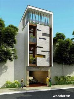 For s/c tower design Modern House Facades, Modern Exterior House Designs, Modern Architecture House, Facade Architecture, Exterior Design, Arch House, Facade House, Villa Design, Facade Design