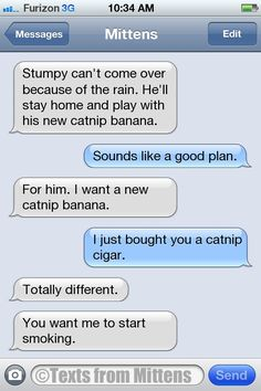 NEW Daily Texts from Mittens: The Smoking Edition More Mittens on Catster.com.