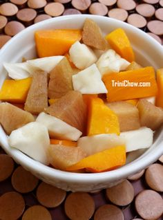 Fruit Salad - Mamey Apple, Soursop & Sapodilla #trinidadandtobago