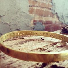 personalized brass bangle from grammercy eight
